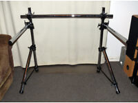Dixon Drum Rack Frame - & 2 arms 4 memory locks 7 tubes & 4 clamps - Solid stand
