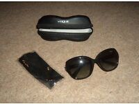 Vogue Sunglasses, Cloth Cleaner and Case