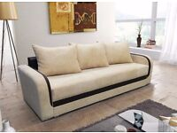 SOFA BED-LUNA-GIANT CORD & FAUX LEATHER CAN DELIVER