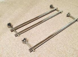 Single and double towel racks