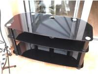 Black glass tv stand free to collector