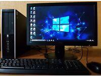 "High Spec HP intel G630 PC setup,4GB DDR3 RAM,Wifi Ready,win 10 64Bit,MS office 2013,20""Full HD LED"