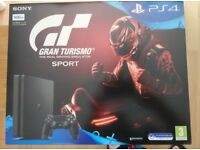 PS4 500gb (sealed, brand new) with Gran Turismo Sport
