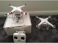 2x Fully Working DJI Phantom 3 Standard Drone Quadcopter 2.7K 12MP HD Camera 3-Axis Gimbal