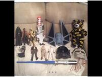 """Star Wars bundle large Rogue one tie figure ship large 12"""" Action figures rare blaster electronic"""