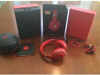 Beats by Dre Studio 2.0 Wireless Red Mint in box 100% Authentic