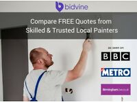 Friendly Local Painter and Decorators, covering ALL OF BIRMINGHAM [£18 p/h average quote]