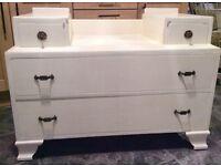 Cream shabby chic sideboard unit