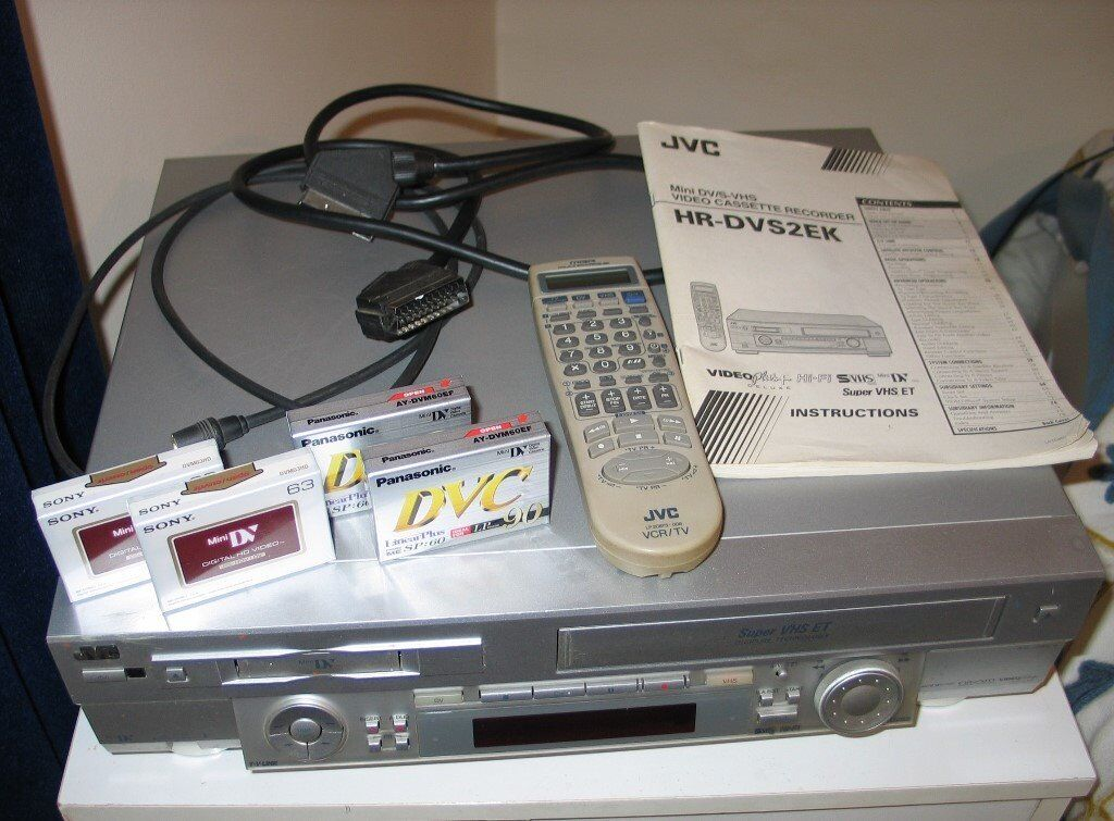 JVC Mini DV/S-VHS video cassette recorder