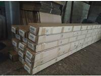 BULK JOB LOT - 112 metres of Skirting Board (Style: Modern) (Colour: CHERRY OAK) NEW