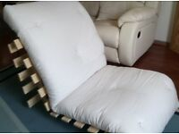 Argos Cream Single Futon - multifunctional, good condition