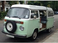 Original 1972 VW Type 2 Westfalia pop-top Campervan