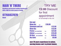 DBS checked Mobile Hairdresser Norwich area