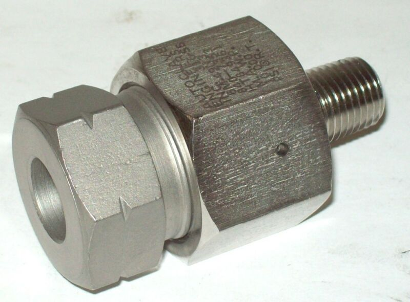 """Autoclave Engineers 1/4"""" Npt X 9/16"""" Tube Male Female Adapter Fitting 6m49n3"""