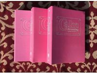 Beautiful Set (3) of Cake Making Decorating Books (Compendium) - A Complete Course