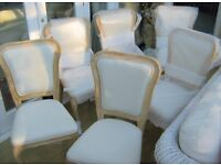Next Amore Six French Oak Dining Chairs - New