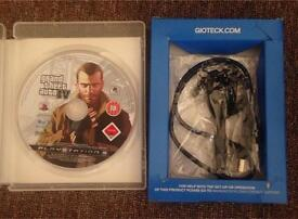 PS3 Bluetooth Headset/Mic with FREE GTA 4