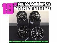 """NEW 19"""" STYLED ALLOYS WHEELS TYRES AUDI SEAT VW SKODA FITTED S LINE A7 S7 RS7 A8 S8 Q3 SQ3 Q5 SQ5"""