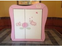 Baby Annabel wooden wardrobe and Peppa Pig dolls pram