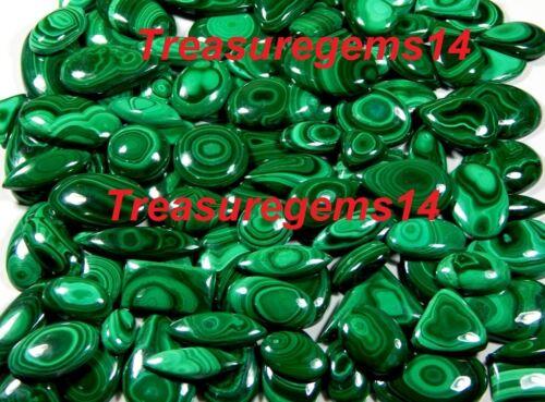 250Crt WHOLESALE LOT NATURAL ANTIQUE GREEN MALACHITE CABOCHON UNTREATED GEMSTONE