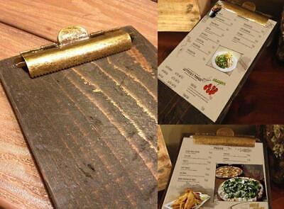 Wood Restaurant Menu Clipboards