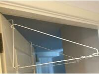 Folding Over The Door Clothes Airer Laundry Towel Rail Caravan Dryer Rack