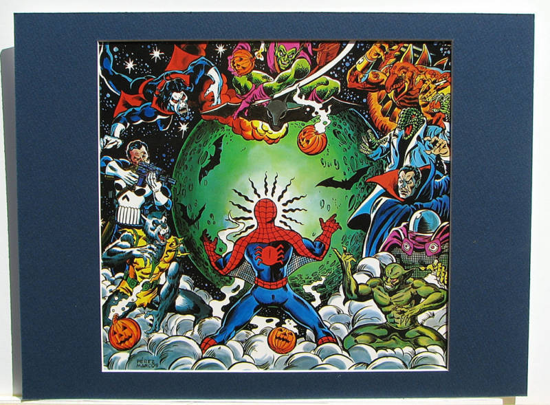 SPIDER-MAN vs VILLIANS COLLAGE Pinup MARVEL Frame Ready