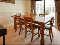 Handmade Malaysian Dining Table with 6 Chairs