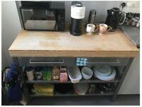 IKEA Kitchen Work Bench