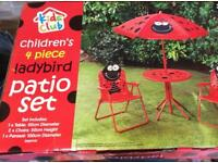 Lady bird patio set