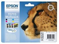 Epson T0715 Cheetah Original Genuine Multipack,Ink Cartridges