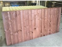special offer discounted pack of 5 No 6ft x 3ft heavy duty vertilap / featheredge fence panels