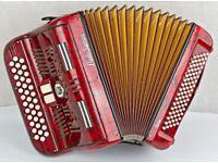 Very Rare 1950's Paolo Soprani Blue Badge Accordion - 3 Row B/C/C# - 80 Bass Accordion