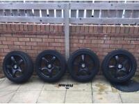 "17"" Lenzo D1R Matt black alloy wheels"