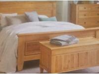 Solid Oak Super Kingsize Bed & Mattress plus many extras