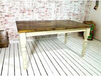 Any Sizes Any Farrow & Ball Rustic Finish Farmhouse Pine Dining Table / Extending Table
