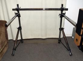 Dixon Drum Rack Frame - & 2 arms 4 memory locks 7 tubes & 4 clamps - Excellent