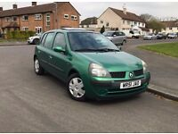 Renault Clio Expression, 1.1 Petrol, 9 months MOT.