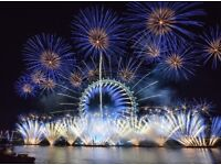 NYE London New Year Eve Fireworks Tickets - BLUE AREA - Best View (£60 each or £200 for 4)