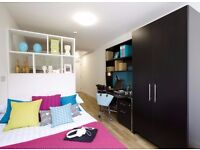 Double bed in 150 rooms student hall at Ewer Street in London