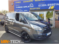 Ford Transit Custom fitted with Van-Tech Aluminium Roof Rails