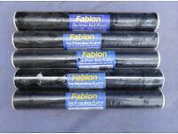 BLACK MATT FABLON 15 METRES LONG 450 MM WIDE X5