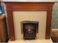 Oak veneer fire surround