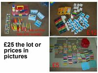 art and craft bundle, pva glue, paints, pencils, crayons, stencils, pens and stickers