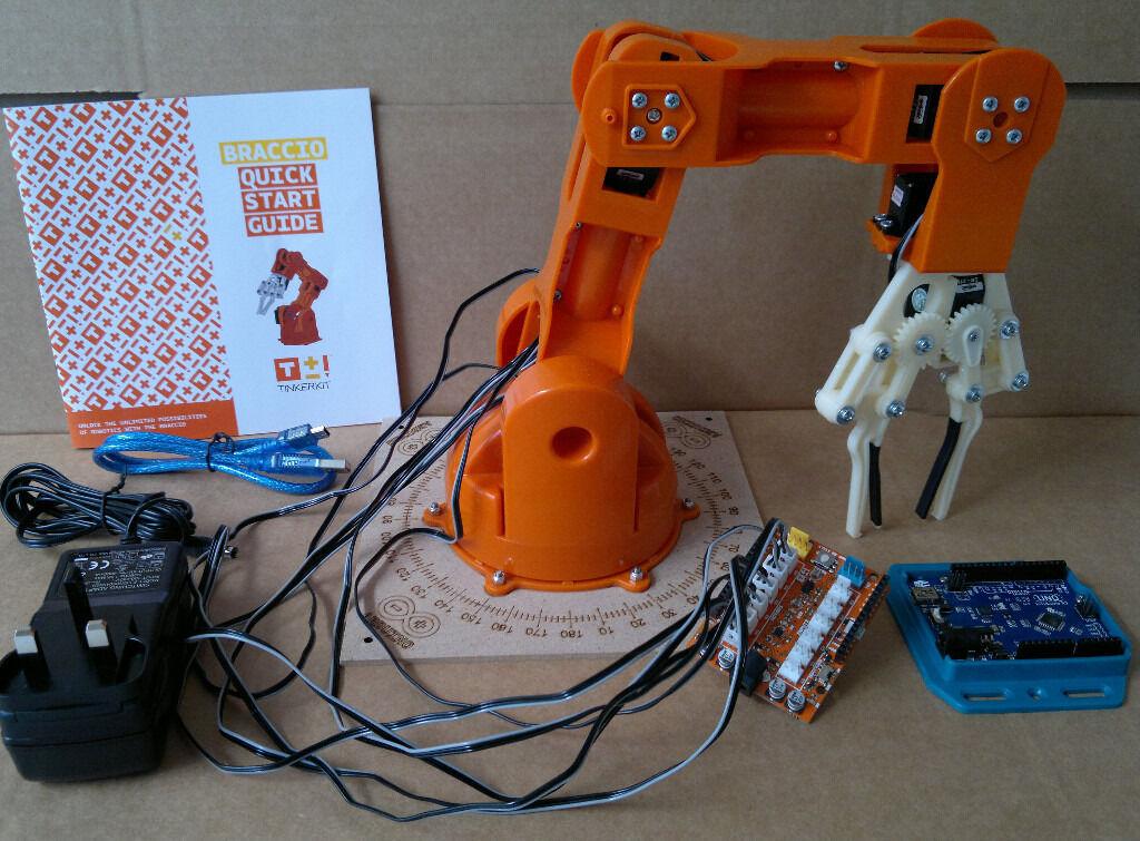 Tinkerkit braccio arduino controlled robotic arm in