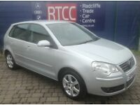 2008 (58 reg), Volkswagen Polo 1.2 Match 5dr Hatchback, AA COVER & AU WARRANT...