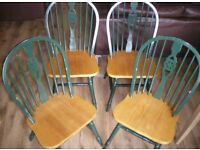 4 x Farmhouse Chairs: