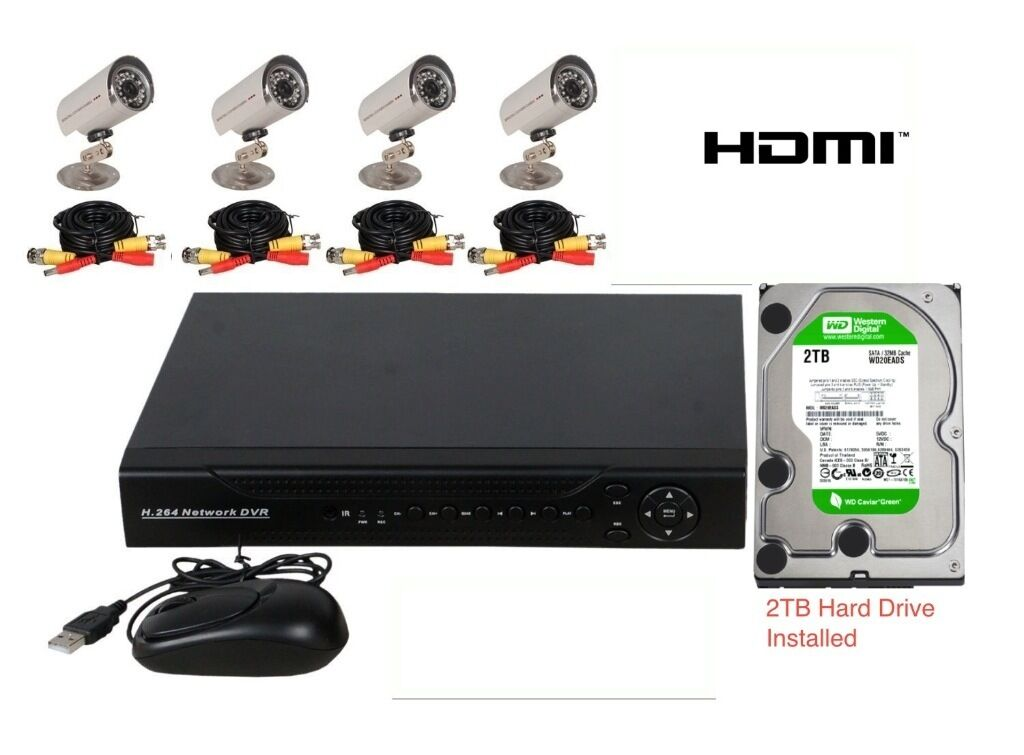 8 Channel Cctv Dvr Security Camera System Includes 4