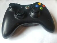 Microsoft Xbox 360 Gamepads Controller Wireless Pre-owned Black