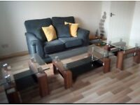 Sofa , coffee and side tables £150